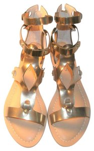 Guess Gladiator Faux Leather Gold Sandals