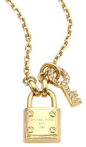 Michael Kors Michael Kors Gold-Tone Padlock and Key Charm