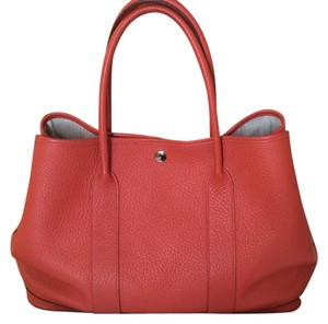 Hermès Satchel in bougainvillea