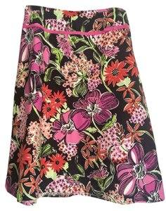 Lilly Pulitzer Skirt Black Flower Market