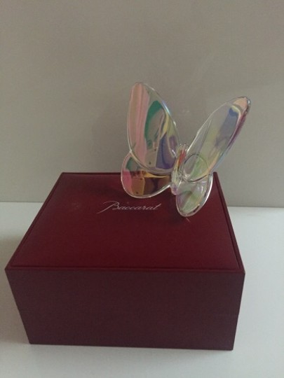 Baccarat Multicolor and Transparent. Butterflies Decoration