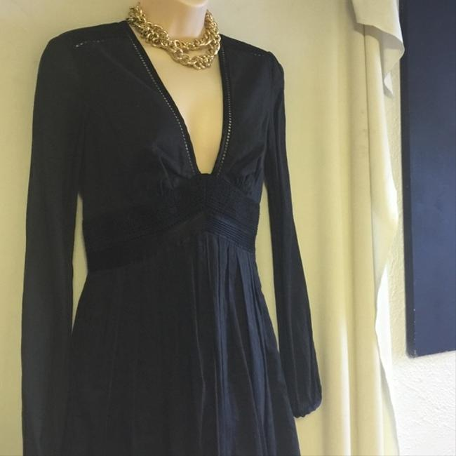 Catherine Malandrino Elegant Black Cotton 4 Dress