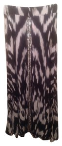 INC International Concepts Maxi Skirt White Multi Color