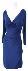 Ralph Lauren Ruched Neckline Evening Evening Ready To Wear Dress