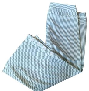 Guess Capris White with Green pin stripe