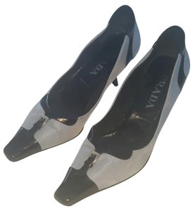 Prada Satin Light blue and black Pumps