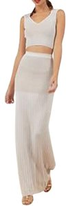 Maxi Dress by Torn by Ronny Kobo Maxi Crop Top Textured Fitted Pleated