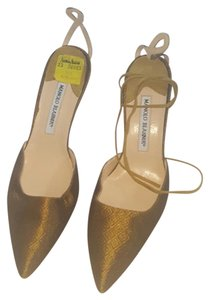 Manolo Blahnik Bronze/Gold Pumps
