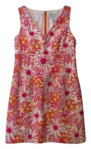 Lilly Pulitzer short dress Orange and Pink Floral on Tradesy