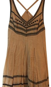 Free People short dress Tan with black stitching on Tradesy