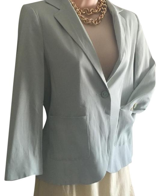 Preload https://item1.tradesy.com/images/topshop-uk-light-green-one-button-reduced-blazer-size-6-s-2096455-0-3.jpg?width=400&height=650