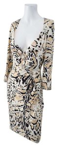 Roberto Cavalli Sheath Snakeskin Dress