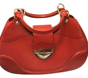Louis Vuitton Epi Montaigne Satchel in Red