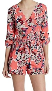 Yumi Kim Belted Waist Liz Crossover V Neckline Long Sleeve Chic Flower Power Dress
