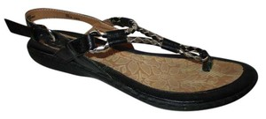 B.O.C. Faux Leather Thong black & silver Sandals