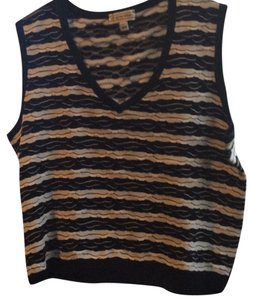 St. John Tank 2 Color Scallop Knit