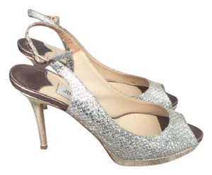 Jimmy Choo Two-tone Glitter Silver Formal