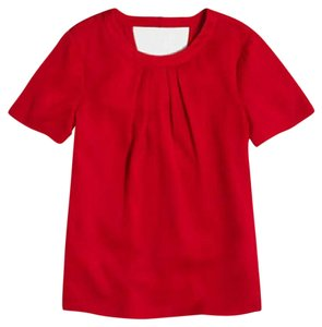 J.Crew Open Back Top Red