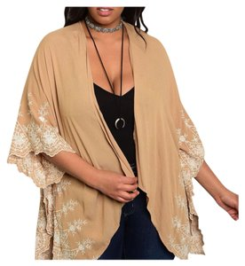 Other Lace Plus Size Flutter Sleeve Curvy Loose Cardigan