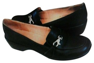 Clarks Artisan Loafers Leather Black Flats