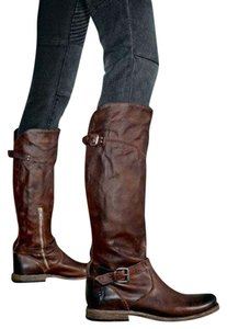 Frye Riding Distressed Dark Brown Boots