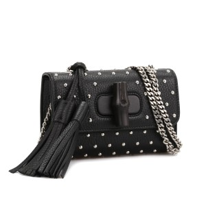 Gucci Lady Bamboo Studded Evening Chain Shoulder Bag