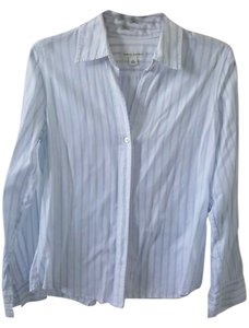Banana Republic Button Down Shirt White/Skyblue