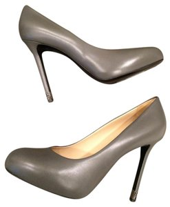 Chanel Metal Heel Grey Pumps