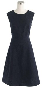 J.Crew short dress Black Summer Eyelet Jacquard Midi Work on Tradesy