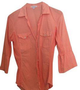 James Perse Button Down Shirt peach sorbet