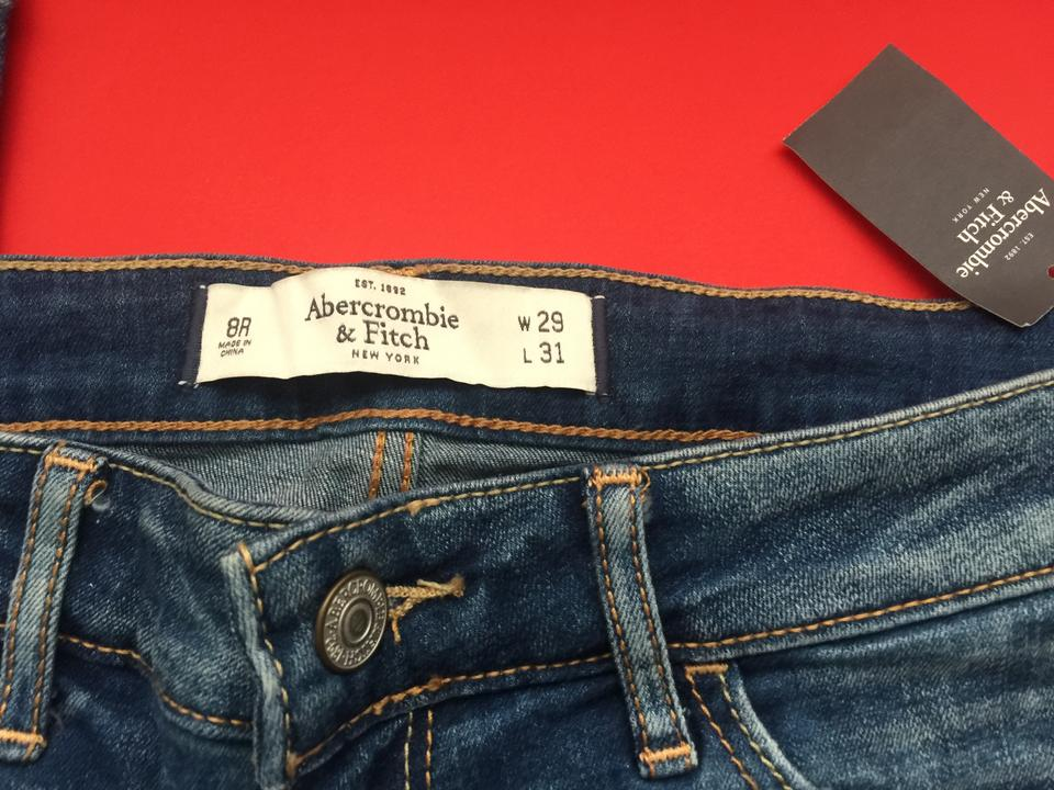 abercrombie fitch denim light wash blue with tag r skinny jeans