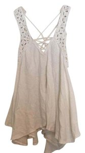 Free People Top cream eyelet