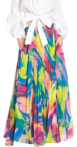 TOV Holy Pleated Maxi Skirt Multicolor