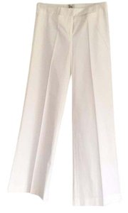 MILLY Wide Leg Pants White
