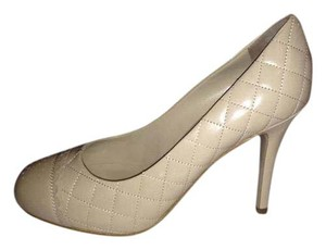 Chanel Quilted Heels Perforated Light Beige Pumps