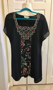Johnny Was Embroidery Silk Tunic