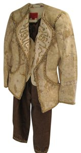 Emanuel Ungaro Vintage Studded Emanuel Ungaro Set of Pant Suite Jacket with Vest
