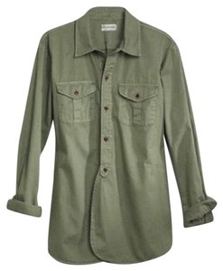 Madewell Button Down Shirt Olive / Army Green