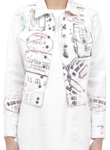 MARY KATRANTZOU white Womens Jean Jacket