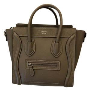 Céline Luggage Calfskin Shoulder Bag