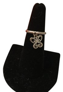 James Avery Smooth Dangle Ring with Small Spring Butterfly Charm