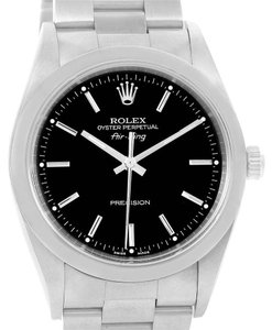 Rolex Rolex Oyster Perpetual Air King Black Dial Domed Bezel Watch 14000