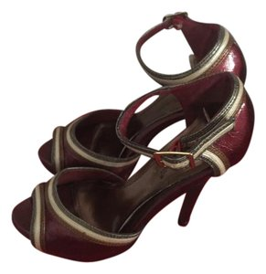 Anne Michelle Burgundy Platforms