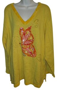 Quacker Factory Butterfly Embellished 3x Sweater