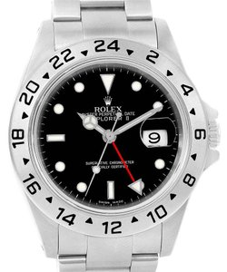 Rolex Rolex Explorer II Black Dial Stainless Steel Mens Watch 16570