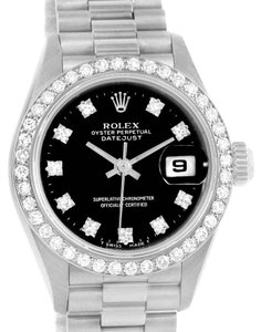 Rolex Rolex President Datejust 18k White Gold Diamond Ladies Watch 69139