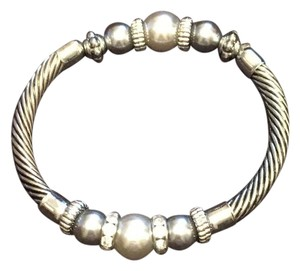Other Faux Pearl & Diamond Detailed Stretch Band Bracelet