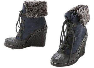 Tory Burch navy/ black Boots