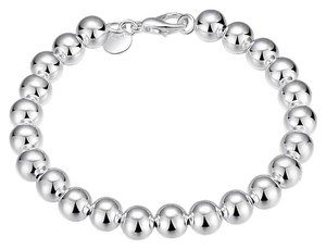 Other New Sterling Silver 8mm Round Ball Bracelet J3208