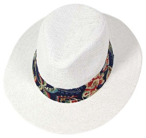 Panama Jack Tropical print band panama hat
